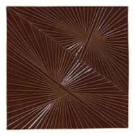 "Tableau by Kelly Wearstler 9"" x 9"" Horizon 1 field tile in Currant"
