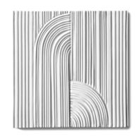 "Tableau by Kelly Wearstler 9"" x 9"" Crescent Deco field tile in White Shimmer"