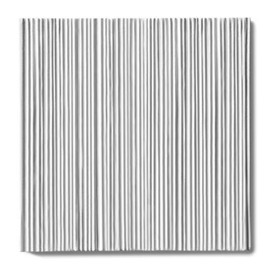 """Tableau by Kelly Wearstler 9"""" x 9"""" Crescent Field tile in White Shimmer"""