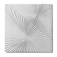 "Tableau by Kelly Wearstler 9"" x 9"" Horizon 1 field tile in White Shimmer"