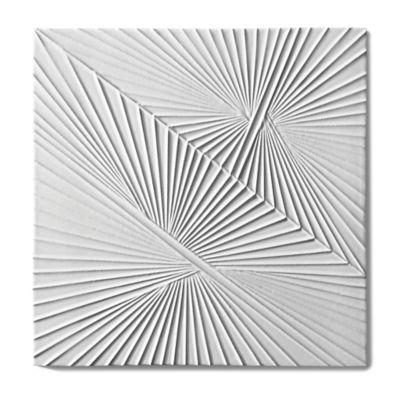 """Tableau by Kelly Wearstler 9"""" x 9"""" Horizon 1 field tile in White Shimmer"""