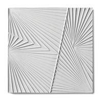 """Tableau by Kelly Wearstler 9"""" x 9"""" Horizon 2 field tile in White Shimmer"""