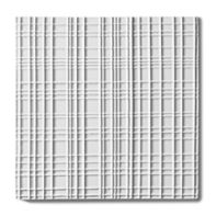 "Tableau by Kelly Wearstler Reef 9"" x 9"" field tile in White Shimmer"