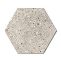 Hex Teigen Field Tile in white