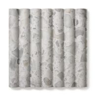 """12"""" x 12"""" fluted field in white"""