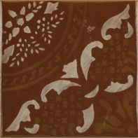 "4.625"" x 4.625"" gitanos 5 decorative tile in paprika, vanilla and honey"