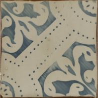 "4-5/8"" x 4-5/8"" la spezia 2 decorative tile in royal blue and off white"