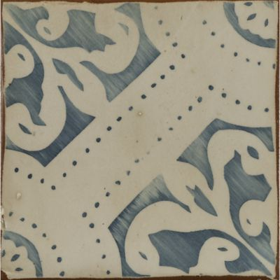 """4-5/8"""" x 4-5/8"""" la spezia 2 decorative tile in royal blue and off white"""