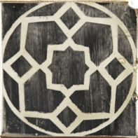 "4-5/8"" x 4-5/8"" yaffo 5 decorative tile in charcoal and off white"