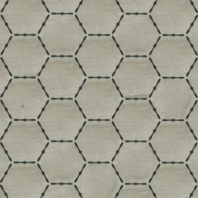"Union Roanoke 48"" x 48"" pattern repeat in Parquet Gris, Xylem Ebony, and Carrara"