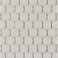 """1"""" penny mosaic in honed finish"""