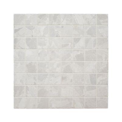 """Zola 1""""x1"""" mosaic in bianca"""