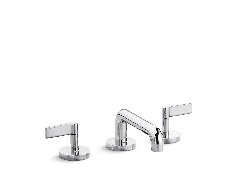 One Deck-Mount Bath Faucet, Low-Spout, Lever Handles | P24404-LV ...