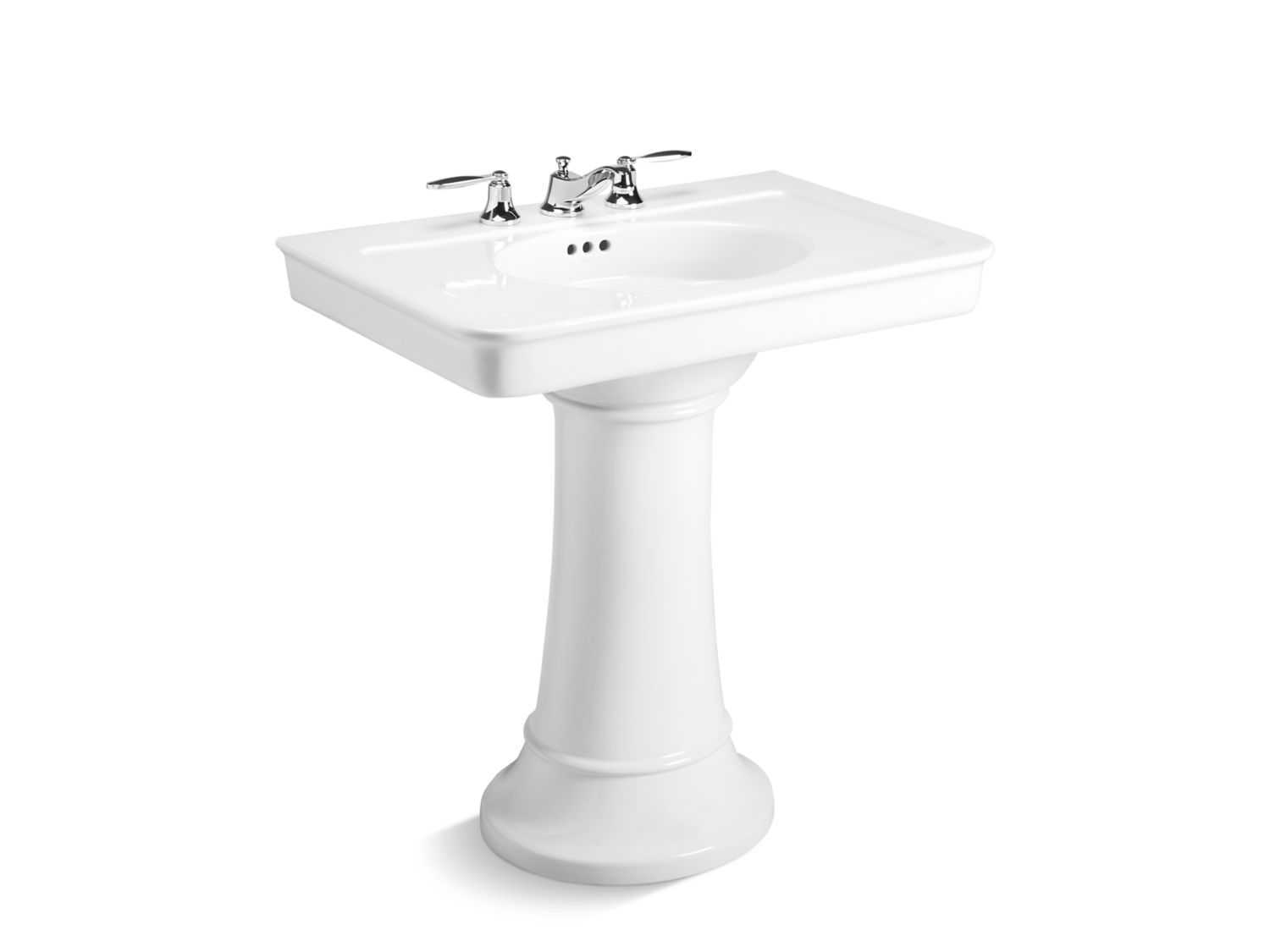 kallista bathroom sinks tuxedo by barbara barry pedestal sink p72037 00 13296