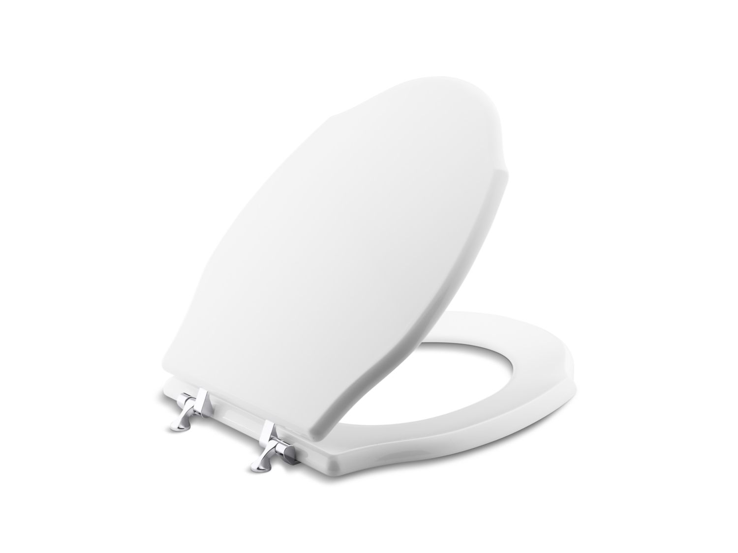 Hampstead Colored Wood Toilet Seat, Elongated, with Chrome Trim ...