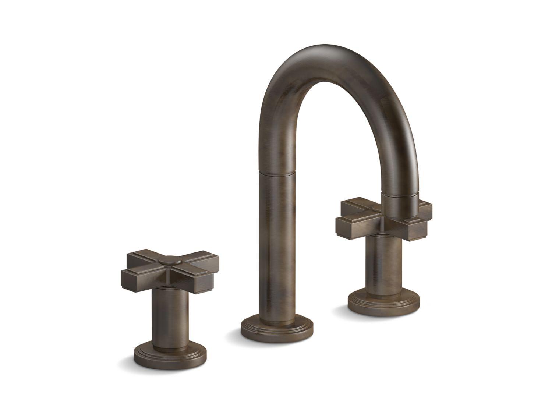 Vir Stil Minimal by Laura Kirar Sink Faucet, Cross Handles | P24131 ...