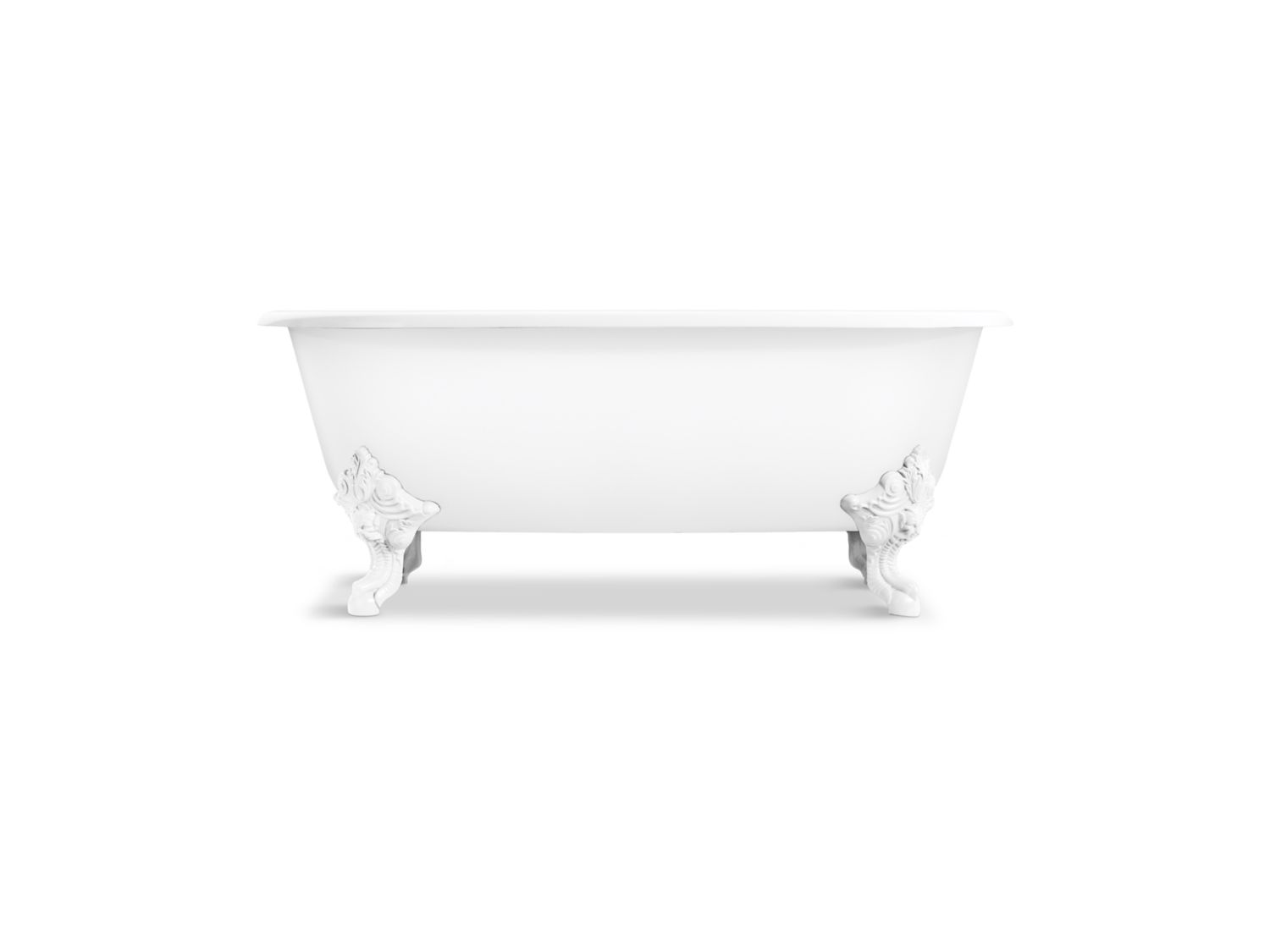 Circe Claw Foot Freestanding Bathtub with White Exterior | P50202-W ...