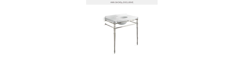 Inigo By Michael S Smith Console Table Legs With Towel Bar P74301 00 Tables Kallista