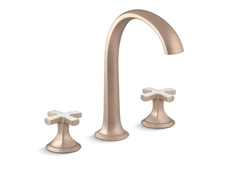 Script Sink Faucet Arch Spout Frost Ripple Enamel Cross Handles P25053 Frp Sink Faucets
