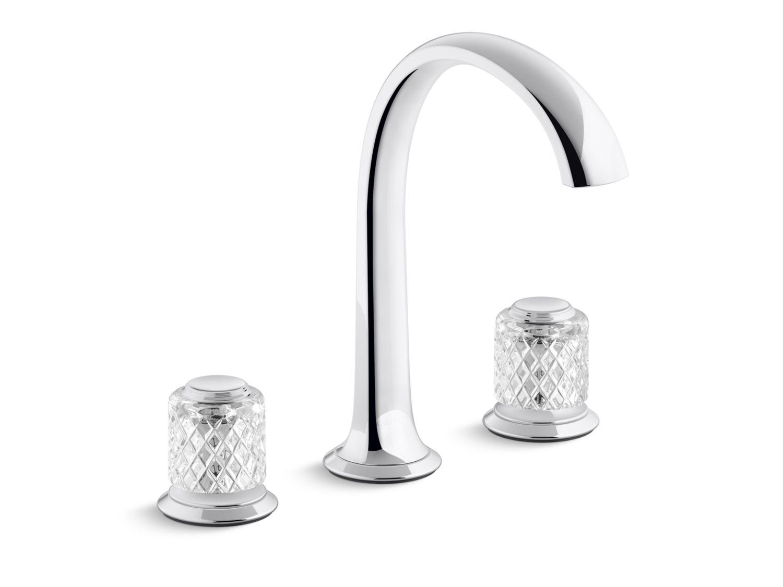 Script Sink Faucet Arch Spout Saint Louis Crystal Clear Knob Handles P25051 Slc Sink Faucets Bathroom Faucets Kallista Kallista