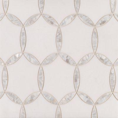 Benton Circles White Thassos/Shell