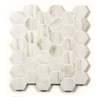 "2"" hexagon mosaic in honed"