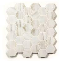 """2"""" hexagon mosaic in honed"""
