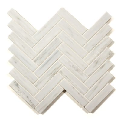 "1"" x 4"" herringbone mosaic in honed"