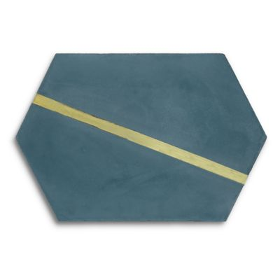 "Casona 8"" x 12"" Brass Hex Left in reef"