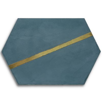 "Casona 8"" x 12"" Brass Hex Right in reef"