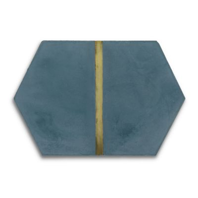 "Casona 8"" x 12"" Brass Hex Vertical in reef"