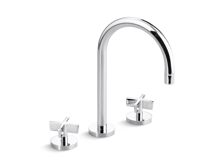 One Sink Faucet, Gooseneck Spout, Cross Handles | P24490-CR ...