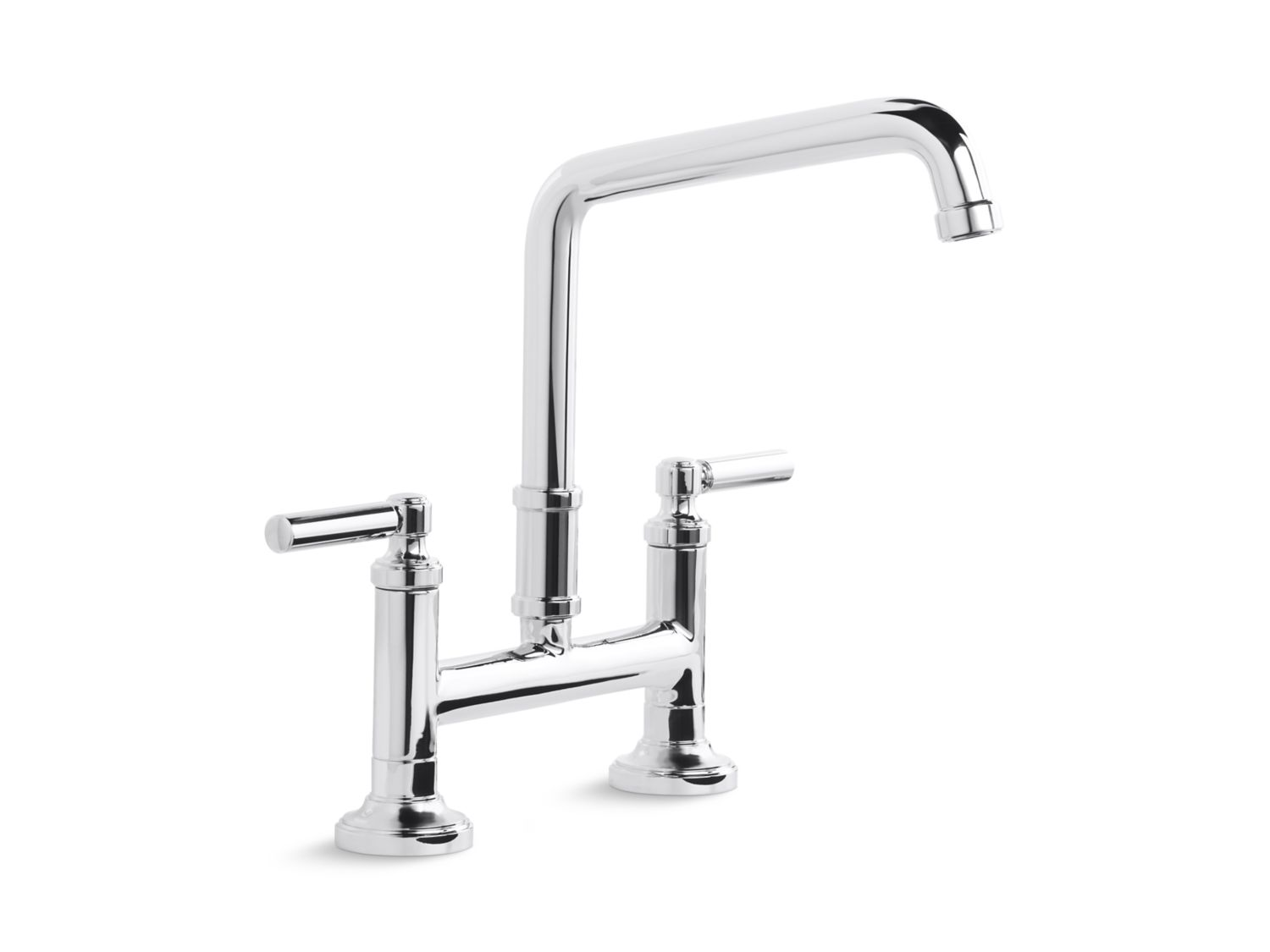 Quincy Deck-Mounted Bridge Faucet, Lever Handles | P25001-00 | Kitchen  Faucets | Kallista
