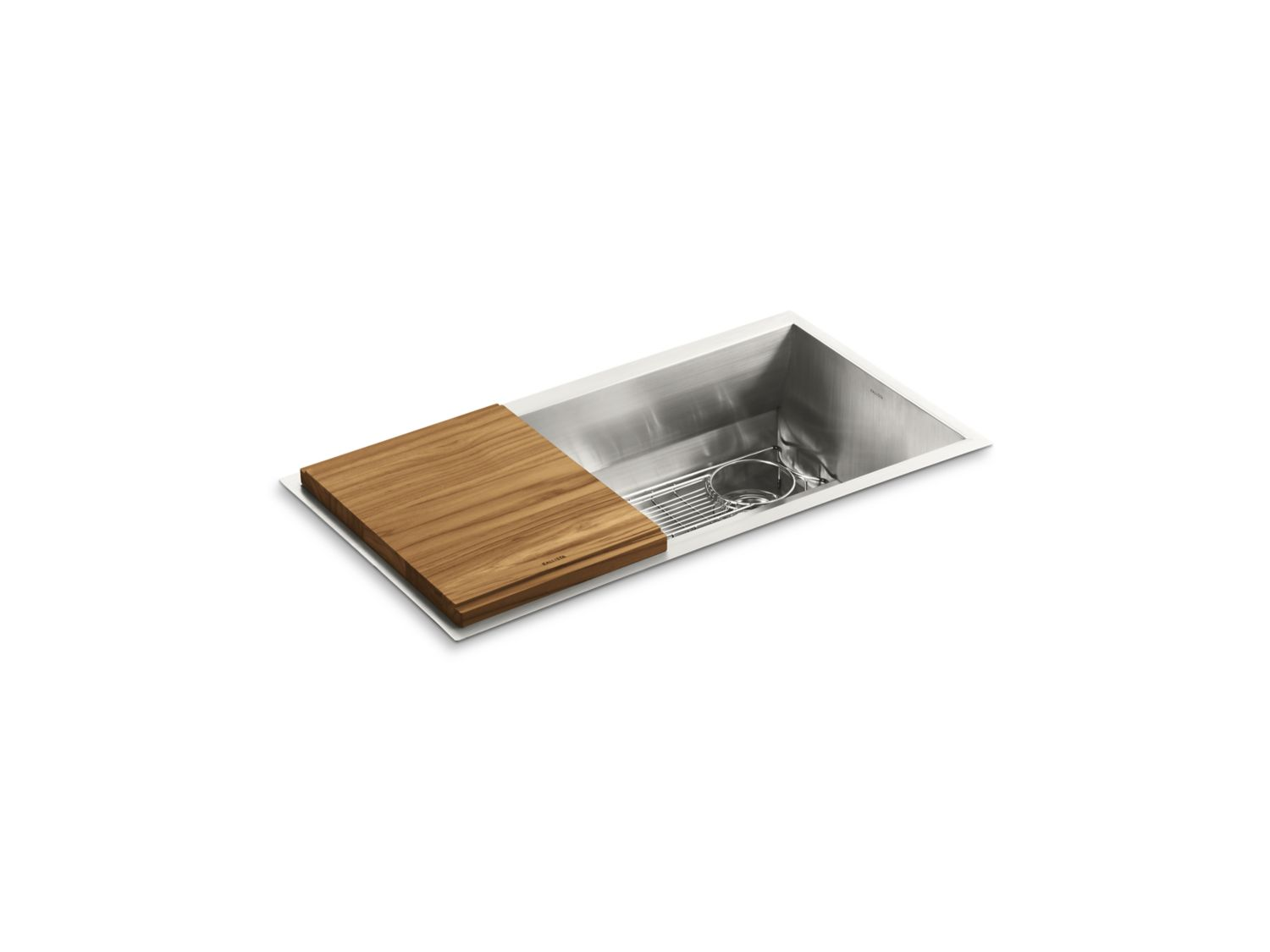 """soltiere 33"""" stainless steel kitchen sink with standard"""