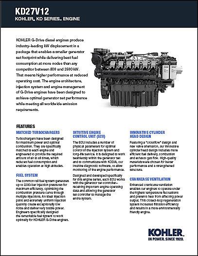 Literature and Brochures   Kohler Power