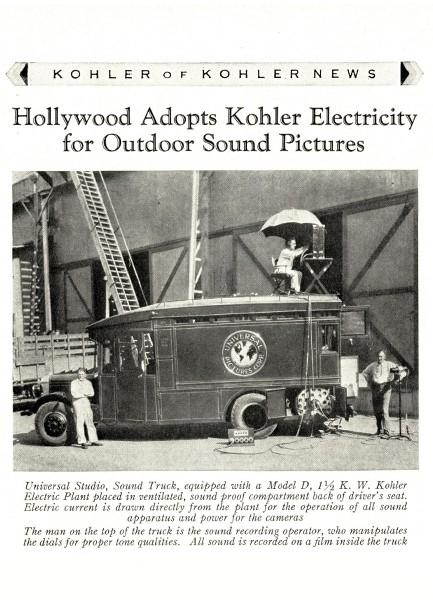 Kohler Goes Hollywood