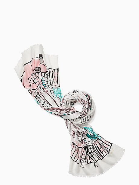 Kate Spade  NEW ORLEANS HOUSE OBLONG SCARF