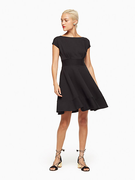 Ponte Fiorella Fit & Flare Dress in Black from Kate Spade