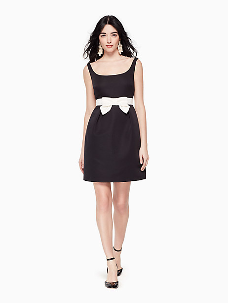 Kate Spade Bow Sheath Dress In Black