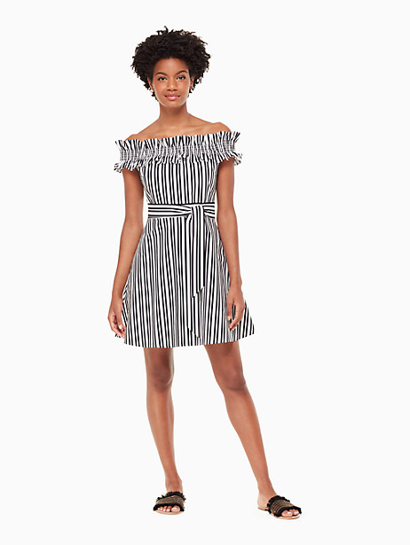 Candy Stripe Dress, Rich Navy