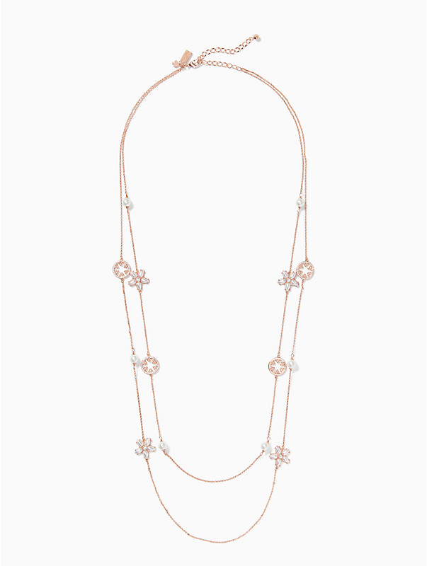 Chantilly charm double strand necklace