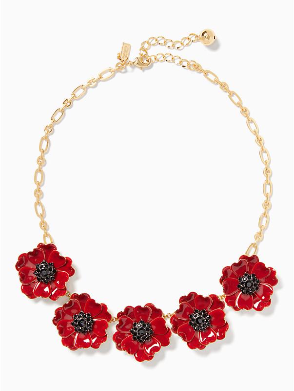 Precious poppies necklace