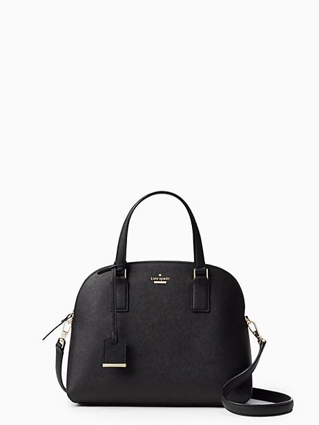 Cameron Street - Lottie Leather Satchel - Black