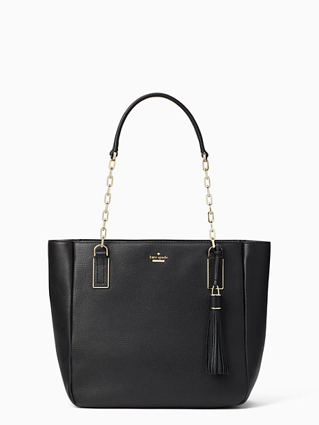 Kingston Drive - Vivian Leather Tote - Black