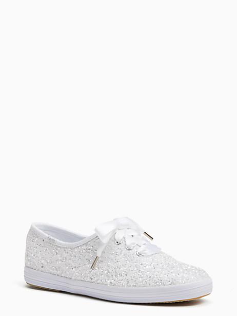Kate Spade Keds X New York Champion Glitter Sneakers In Bridal White Flitter 104fbb7cc180