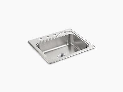 Southhaven R Top Mount Single Bowl Kitchen Sink 25 X 22 6 1 2 11403 4 Na