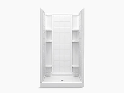 Ensemble Series 7211 42 X 34 75 3 4 Shower Stall With Aging In Place Backerboards 72110106 0