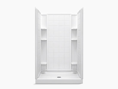 Ensemble Series 7212 48 X 34 75 3 4 Shower Stall With Aging In Place Backerboards 72120106 0