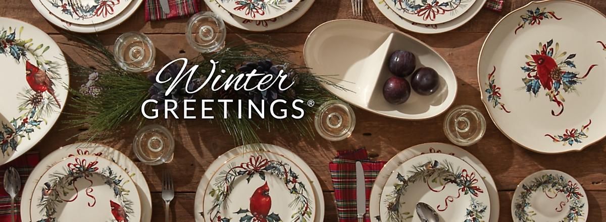 Winter greetings dinnerware m4hsunfo