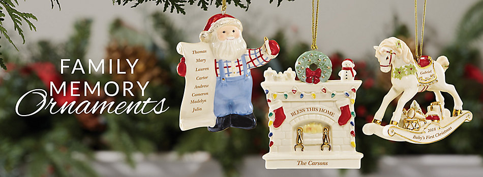 family memories ornaments lenox - Lenox Christmas Decorations